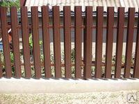 забор из металлического штакетника цена
