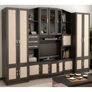 Мебельная стенка – функциональность и современность в решении гостиной