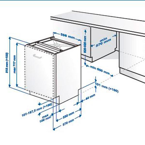 Встраиваемые посудомоечные машины 60 см